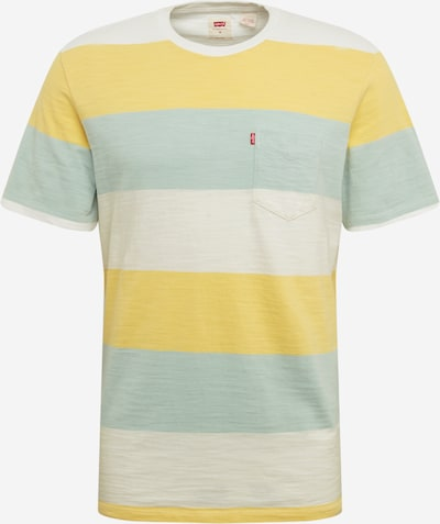 LEVI'S T-Krekls 'SUNSET' pieejami debeszils / citronkrāsas / balts, Preces skats