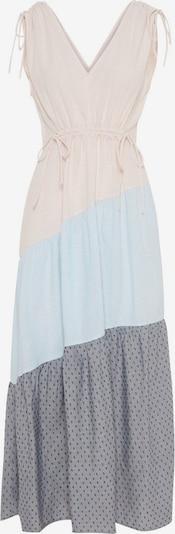 Y.A.S Robe d'été en bleu fumé / gris foncé / poudre: Vue de face