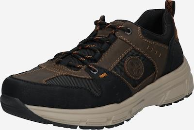 RIEKER Športni čevlji z vezalkami | rjava / temno siva / črna barva, Prikaz izdelka