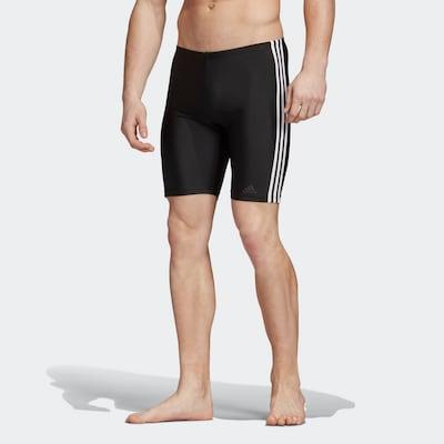 ADIDAS PERFORMANCE Sportzwembroek in de kleur Zwart / Wit: Vooraanzicht