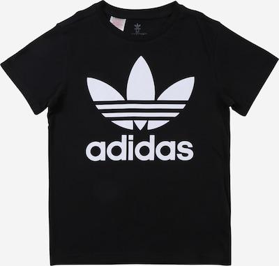 ADIDAS ORIGINALS Majica 'Trefoil' u crna / bijela, Pregled proizvoda