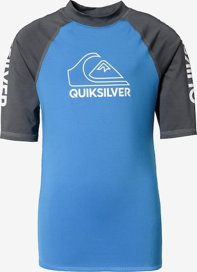 QUIKSILVER Schwimmshirt in blau / anthrazit / weiß, Produktansicht