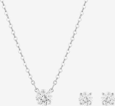 Set de bijuterii 'Attract' Swarovski pe argintiu / alb, Vizualizare produs