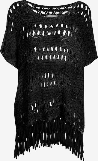 Usha Strickponcho in schwarz, Produktansicht