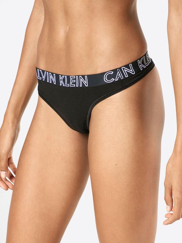 String 'thong' Klein En Calvin Underwear Noir xBCrdoeW