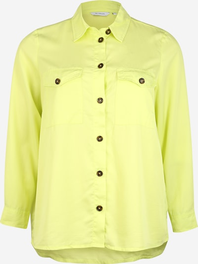 ONLY Carmakoma Blouse in de kleur Lichtgroen, Productweergave