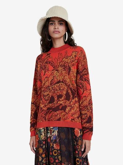 Desigual Pullover 'Halifax' in senf / rot / schwarz, Modelansicht