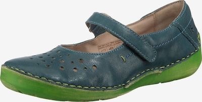 JOSEF SEIBEL Komfort-Ballerinas 'Fergey 77' in cyanblau / grasgrün, Produktansicht
