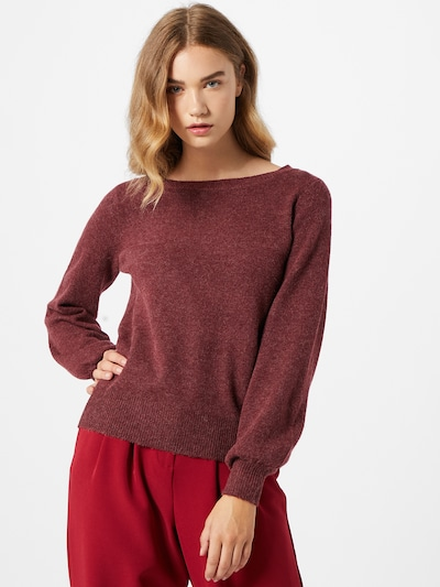 VERO MODA Pullover 'BRILLIANT' in bordeaux, Modelansicht
