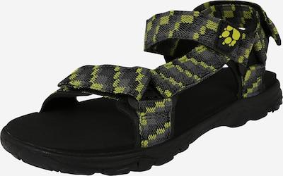 JACK WOLFSKIN Sandały 'Seven Seas' w kolorze ciemnoszary / limonka / czarnym, Podgląd produktu