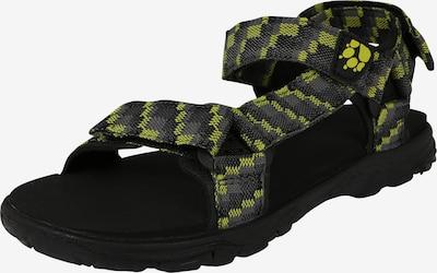 JACK WOLFSKIN Sandalen 'Seven Seas' in dunkelgrau / limette / schwarz, Produktansicht