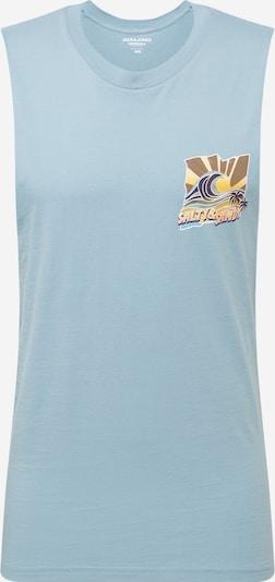 JACK & JONES Koszulka 'Fuzzy' w kolorze jasnoniebieski / mieszane kolorym: Widok z przodu