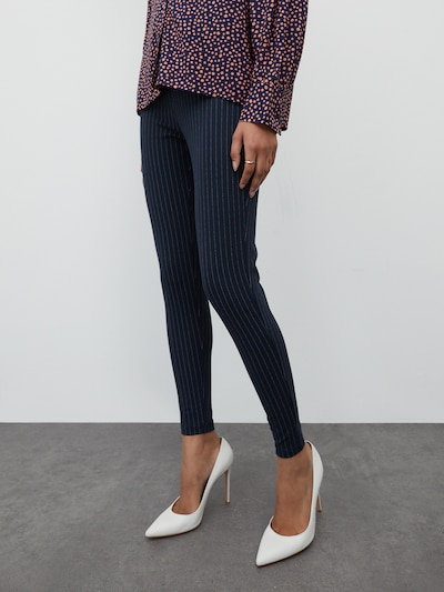 EDITED Leggings 'Rebecca' in navy / weiß, Modelansicht