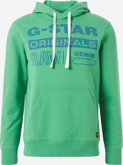 G-Star RAW Sweatshirt 'Originals' in blau / grasgrün, Produktansicht