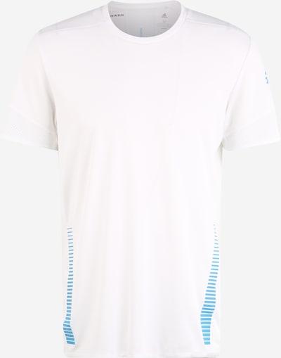 ADIDAS PERFORMANCE Funktionsshirt in blau / weiß: Frontalansicht