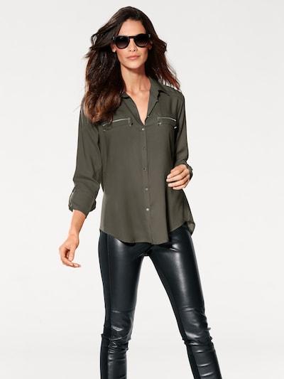 heine Hemdbluse in khaki, Modelansicht