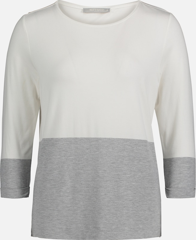 Betty & Co Shirt in creme / grau, Produktansicht