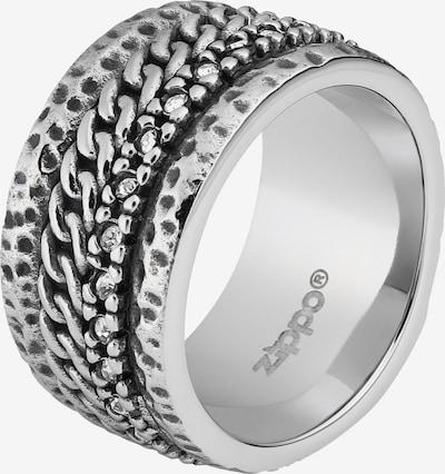 ZIPPO Ring 'Kettenmuster' in silber, Produktansicht