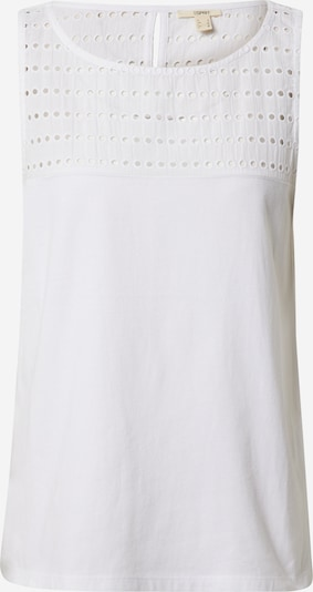 ESPRIT Top 'FLW Eyelet' in weiß, Produktansicht