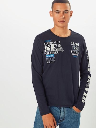kék / tengerészkék / fehér CAMP DAVID Póló: Elölnézet