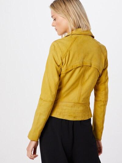 Maze Lederjacke 'Romie' in gelb: Rückansicht