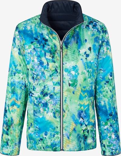 Basler Jacke in blau / navy / aqua / gelb / jade, Produktansicht