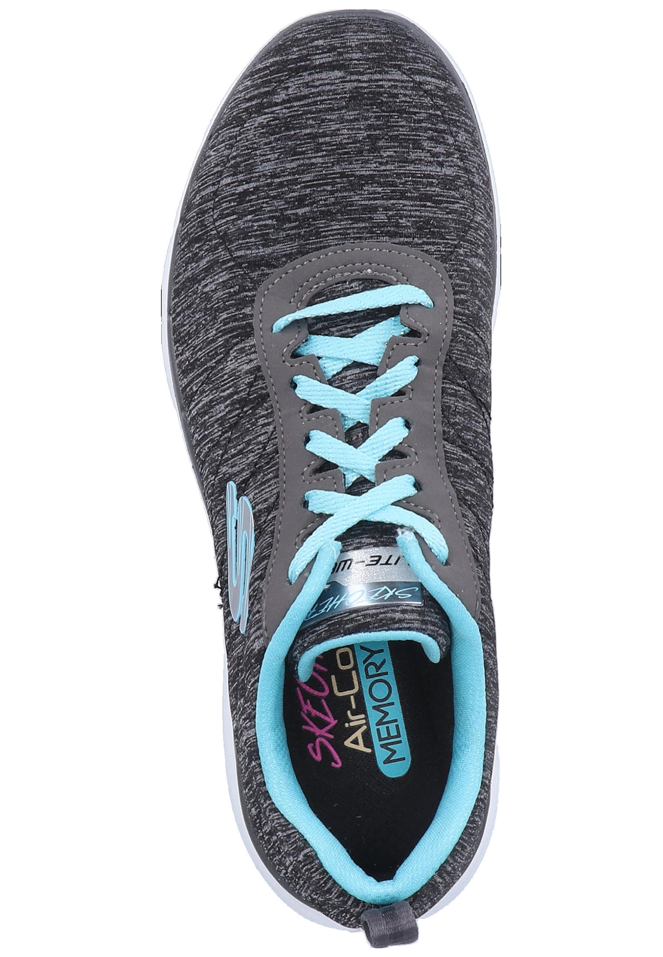 SKECHERS Sneaker 'Flex Appeal 3.0' in hellblau / schwarzmeliert