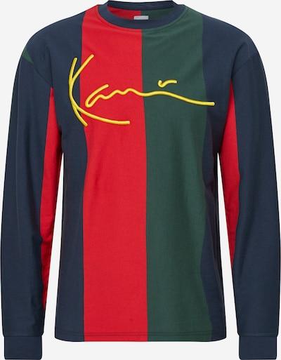 Karl Kani Shirt in dunkelblau / khaki / rot, Produktansicht