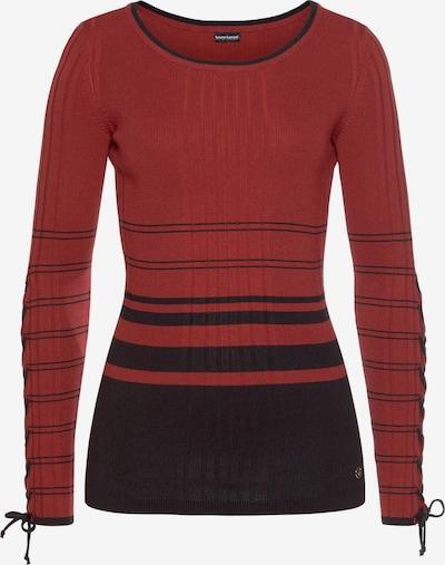 BRUNO BANANI Pulli in rot / schwarz, Produktansicht