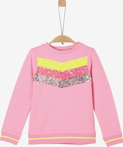 s.Oliver Sweatshirt in mischfarben / rosa, Produktansicht