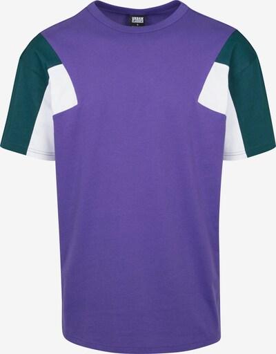 Urban Classics T-Shirt in dunkelgrün / helllila / offwhite, Produktansicht
