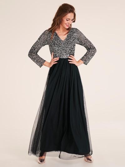 heine Abendkleid in schwarz / silber, Modelansicht