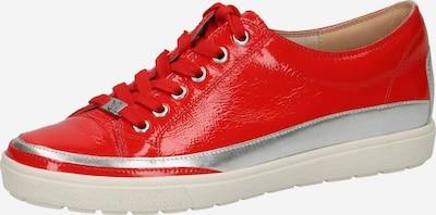 CAPRICE Sneaker in hellrot / silber, Produktansicht