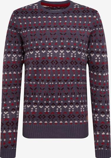 BLEND Pullover in schlammfarben / weinrot / dunkelrot / weiß, Produktansicht