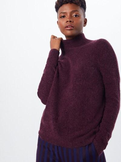 MOSS COPENHAGEN Pullover 'Rose Aplaca Pullover' in weinrot, Modelansicht