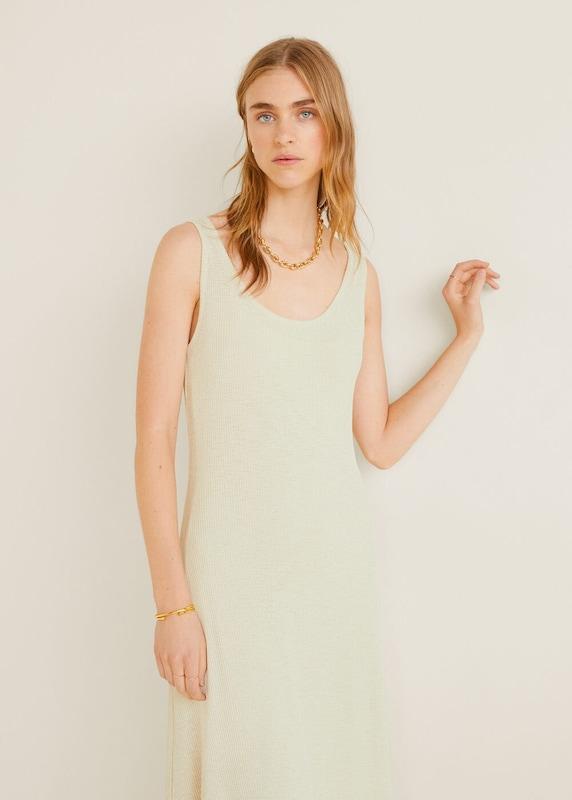 MANGO Kleid 'Lirio' in perlweiß | ABOUT YOU