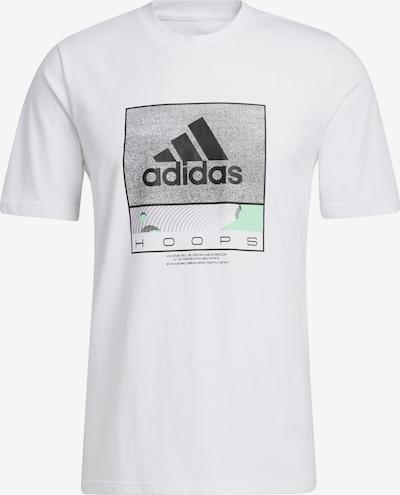 ADIDAS PERFORMANCE T-Shirt 'Future Hoops Graphic' in grau / mint / schwarz / weiß, Produktansicht