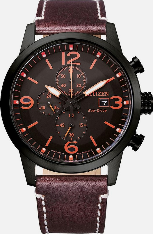 CITIZEN Chronograph in beere / orange / schwarz, Produktansicht