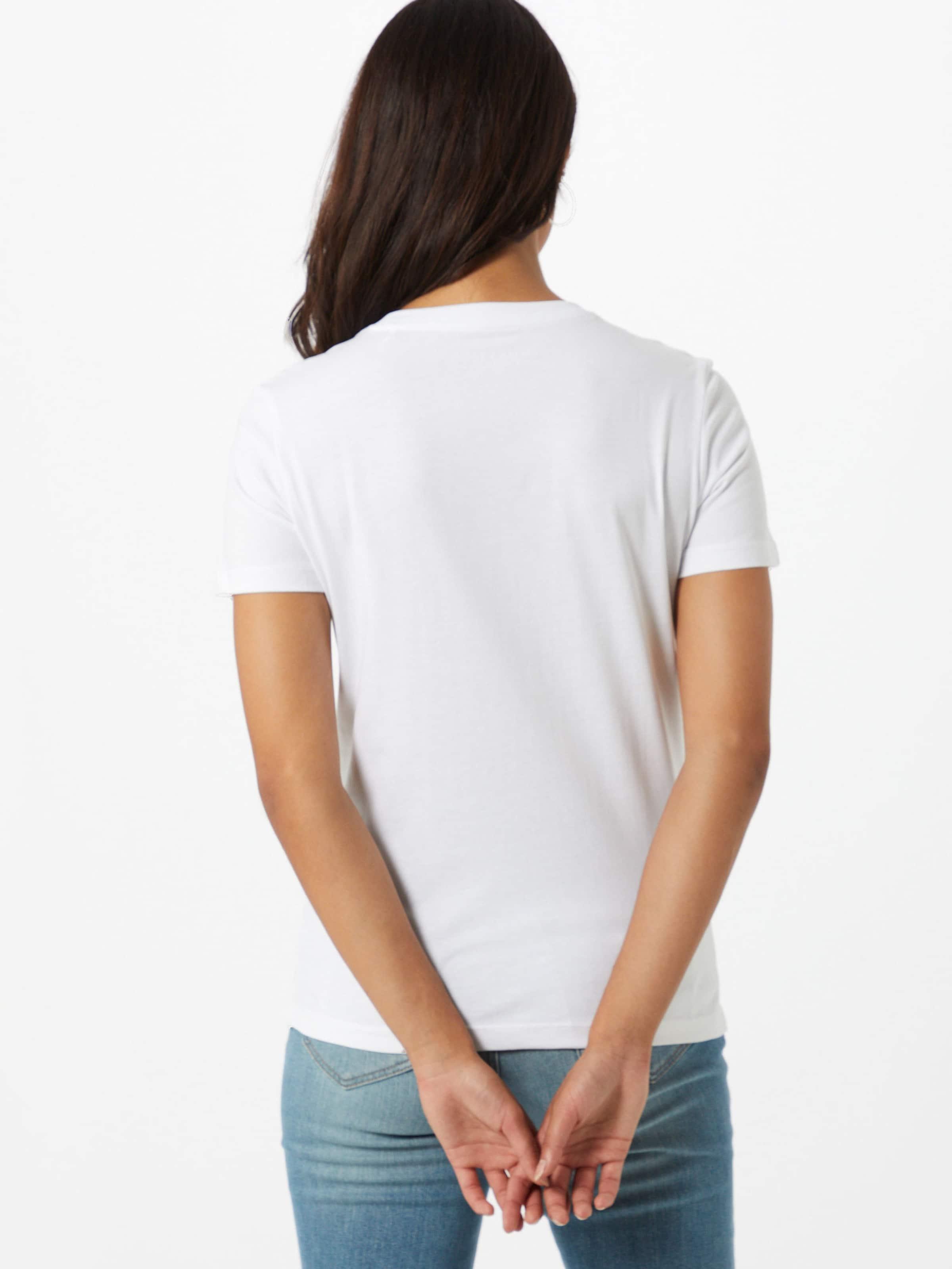 GUESS Póló tűzpiros / fekete / fehér színben