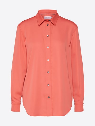 Calvin Klein Blouse 'PIPING' in de kleur Oranjerood, Productweergave