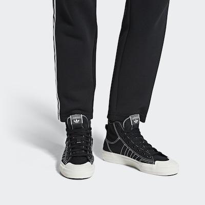 ADIDAS ORIGINALS Schuhe 'Nizza RF Hi' in schwarz: Frontalansicht