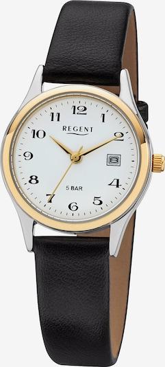 REGENT Uhr in gold / schwarz / silber / weiß, Produktansicht