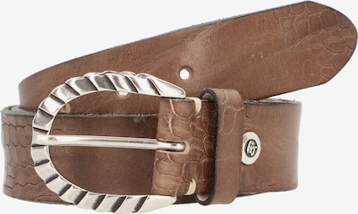 b.belt Handmade in Germany Ceinture 'Sofia' en marron: Vue de face