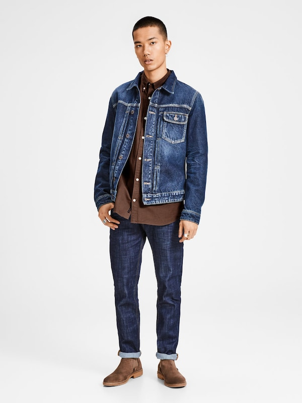 JACK & JONES Oxford-Web-Langarmhemd