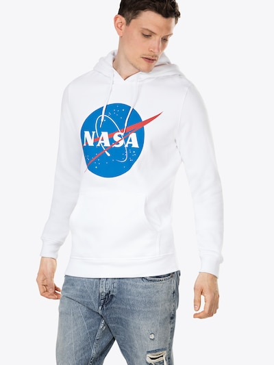 Mister Tee Sweatshirt 'NASA' in blau / rot / weiß: Frontalansicht