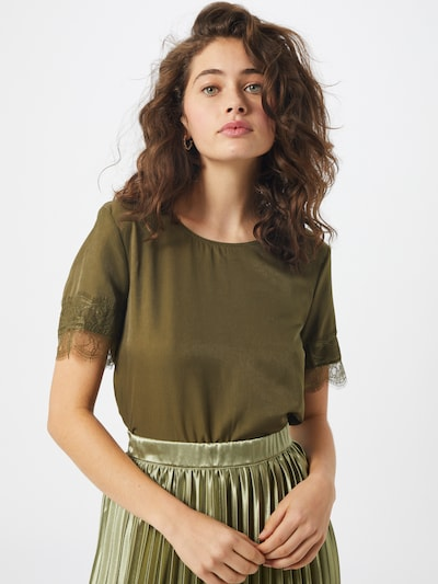OBJECT Bluse in oliv, Modelansicht