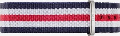 Daniel Wellington Textilband in navy / cranberry / weiß, Produktansicht