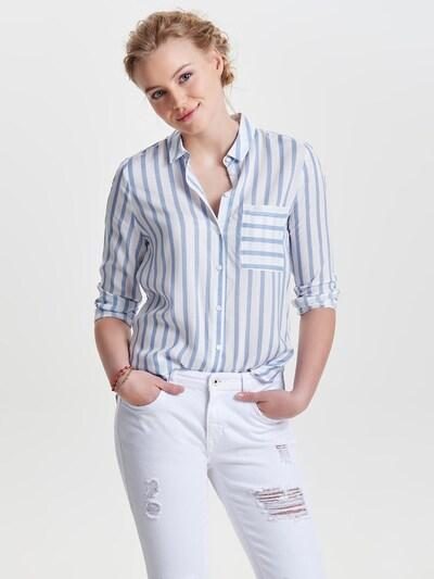 ONLY Hemd in rauchblau / weiß, Modelansicht