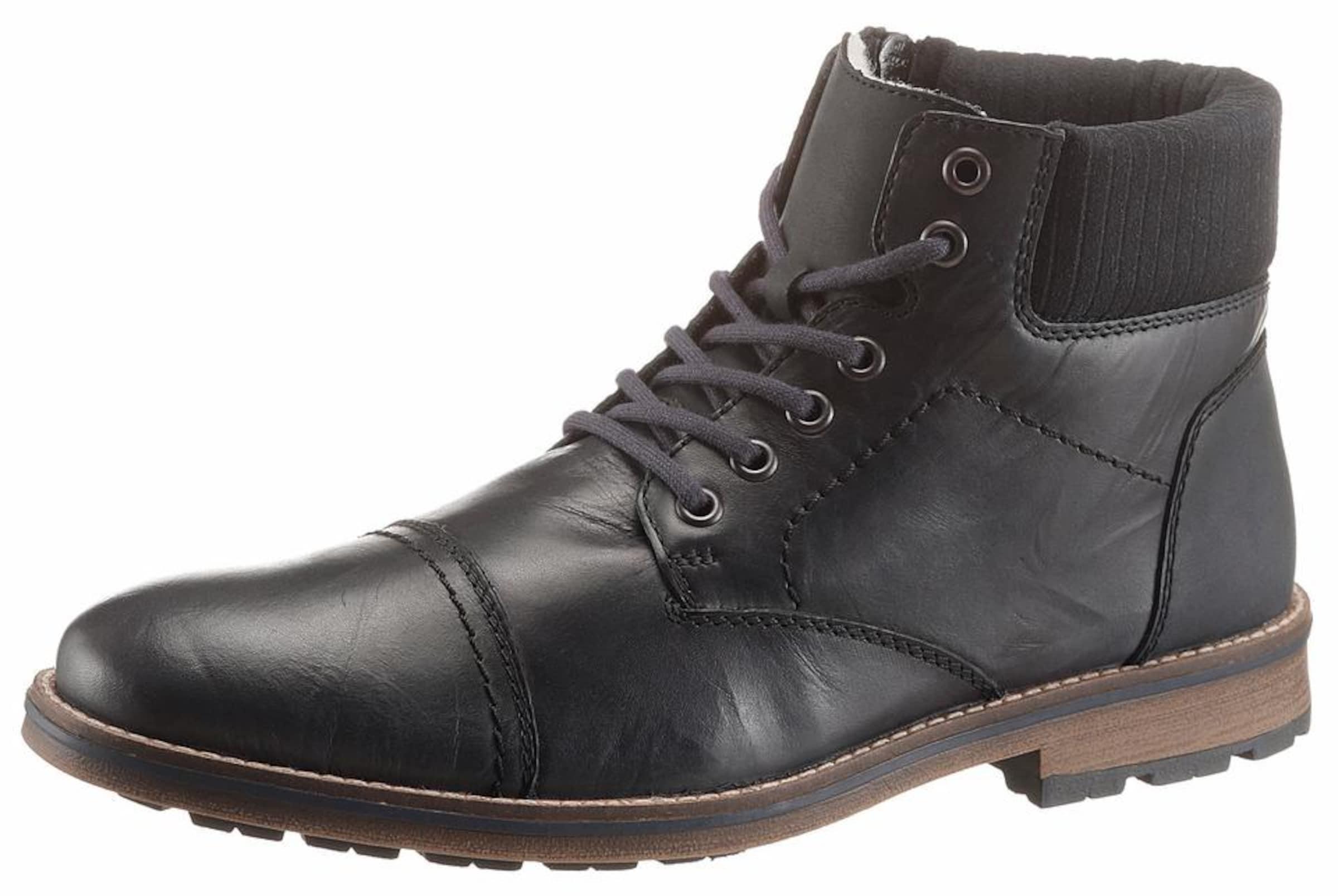 Haltbare Mode billige Schuhe RIEKER | Schnürstiefel mit Rahmennaht-Optik Schuhe Gut getragene Schuhe