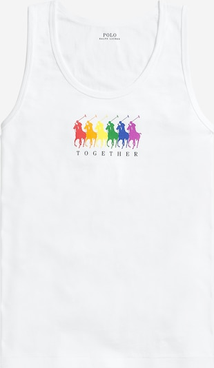 POLO RALPH LAUREN T-Shirt 'PRIDE TANK-SLEEVELESSKNIT' en blanc, Vue avec produit